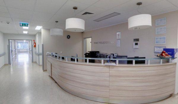 2 piętro – Kardiologia i Interna – Recepcja główna